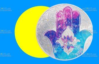 Палау монета 5 долларов Рука Хамсы