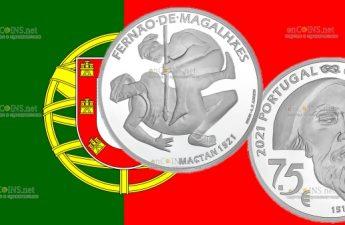 Португалия монета 7,5 евро 5-летие кругосветного плавания Фердинанда Магеллана - Мактан