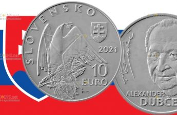 Словакия монета 10 евро Александр Дубчек