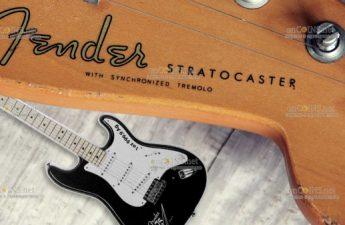 Соломоновы острова монета 2 доллара Fender Stratocaster