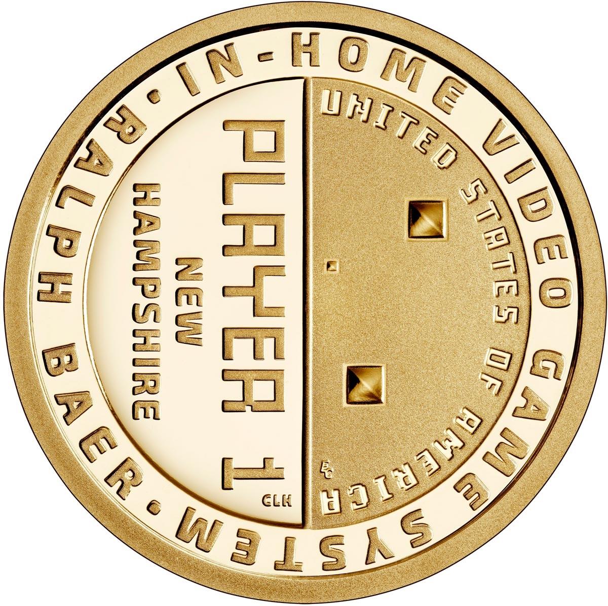 США монета 1 доллар Ральф Баер, отец видеоигр, реверс