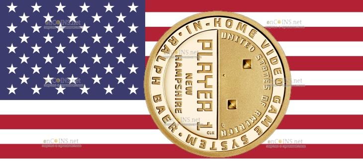 США монета 1 доллар Ральф Баер, отец видеоигр
