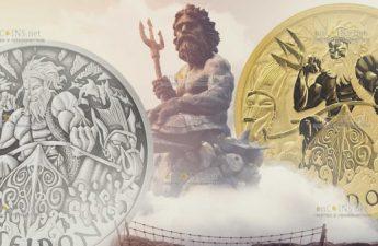 Тувалу монета 1 доллар Посейдон