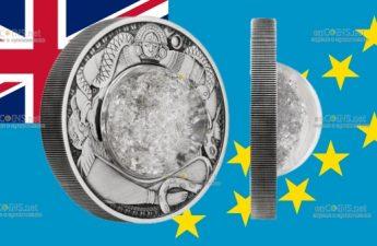Тувалу монета 2 доллара Слезы Луны