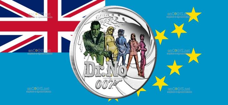 Тувалу монета пол доллара Доктор Но