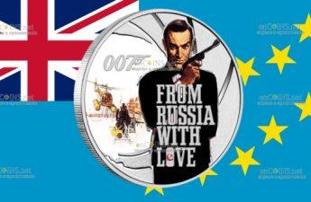 Тувалу монета пол доллара Джеймс Бонд из России с любовью