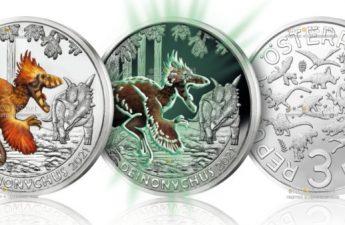 Австрия монета 3 евро Дейноних