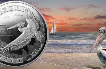 Барбадос монеты Пеликан 2021