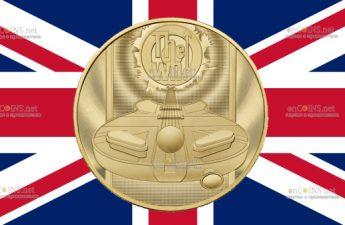 Британия монета 1000 фунтов THE WHO