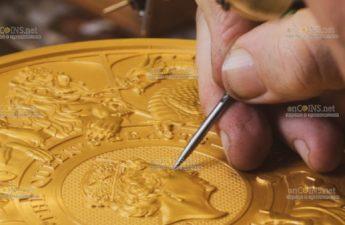 Британия монета 1000 фунтов Звери Королевы