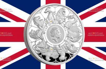 Британия монета 2 фунта Звери Королевы