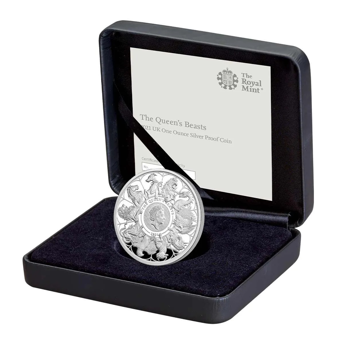 Британия монета 2 фунта Звери Королевы, подарочная упаковка