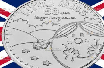 Британия монета 5 фунтов Маленькая мисс Счастье