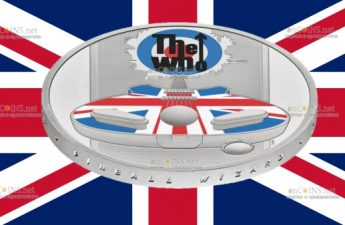 Британия монета 5 фунтов THE WHO