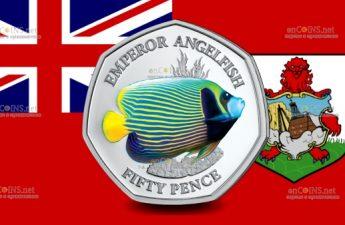 Британские территории в Индийском монета 50 пенсов Императорский ангел