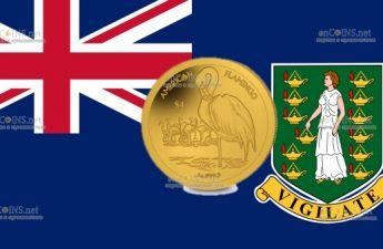 Британские Виргинские острова монета 4 доллара Фламинго
