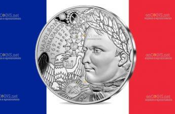 Франция монета 10 евро к 200-летию со дня смерти Наполеона