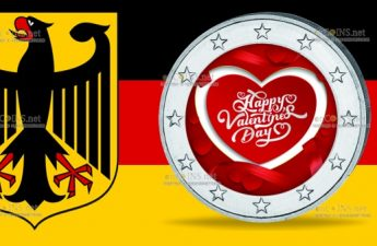 Германия монета 2 евро День Святого Валентина