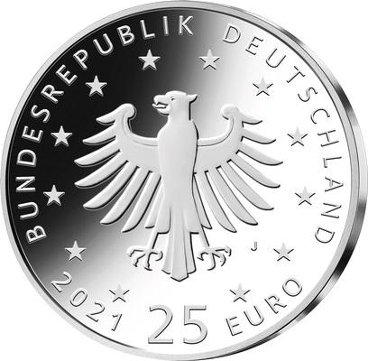 Германия монета 25 евро Рождество, аверс