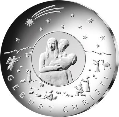 Германия монета 25 евро Рождество, реверс