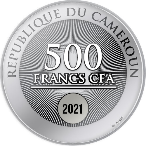 Камерун монета 500 франков Наполеон Бонапарт, аверс