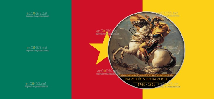 Камерун монета 500 франков Наполеон Бонапарт
