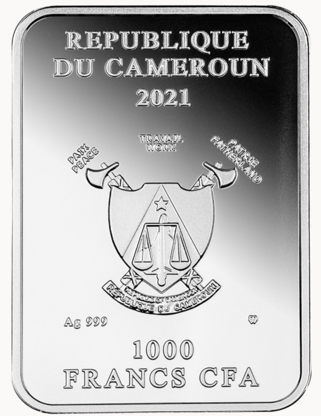 Камерун монетау 1000 франков Мост Понте-Веккьо, аверс