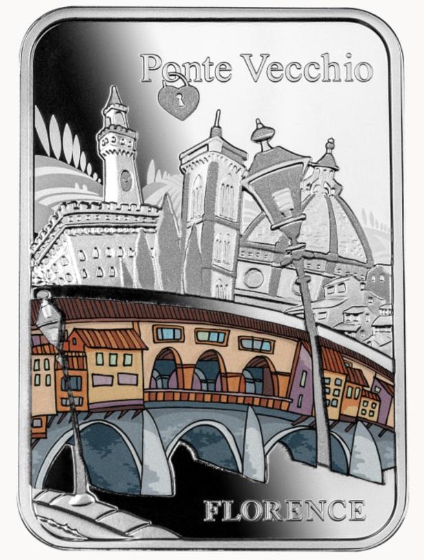 Камерун монетау 1000 франков Мост Понте-Веккьо, реверс