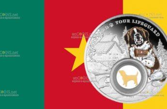 Камерун выпускает монету 1000 франков Сенбернар
