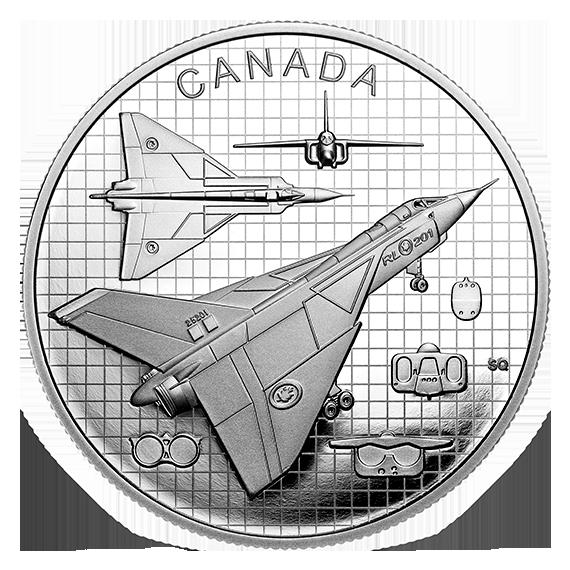 Канада монета 20 долларов Avro CF-105 Arrow, реверс