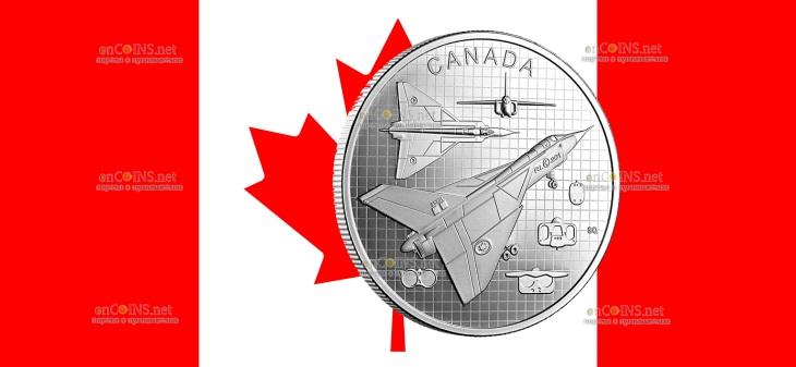 Канада монета 20 долларов Avro CF-105 Arrow