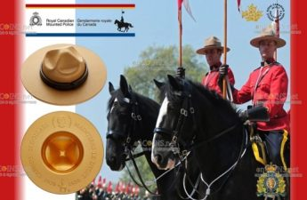 Канада монета 25 долларов Легендарная Шляпа RCMP
