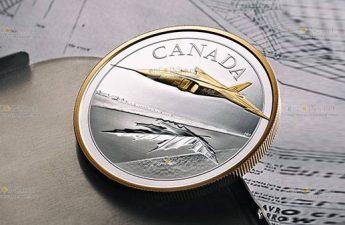 Канада монета 50 долларов Avro CF-105 Arrow