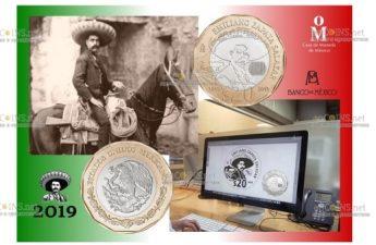 Мексика выпустила монету номиналом 20 песо 100 лет со дня смерти Эмилиано Сапаты