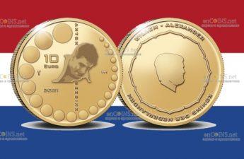 Нидерланды монета 10 евро Антон Гесинк