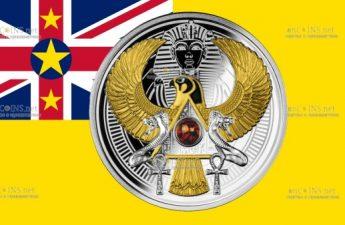 Ниуэ монета 1 доллар Сокол Тутанхамона