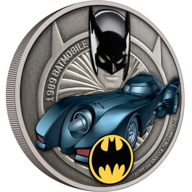 Ниуэ монета 2 доллара Бэтмобиль, реверс