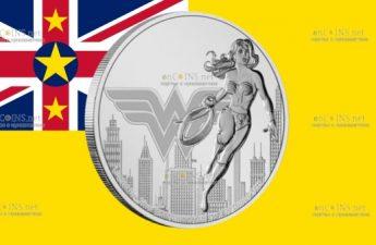 Ниуэ монета 2 доллара Чудо-женщина