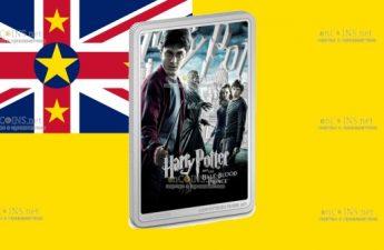 Ниуэ монета 2 доллара Гарри Поттер и Принц-полукровка