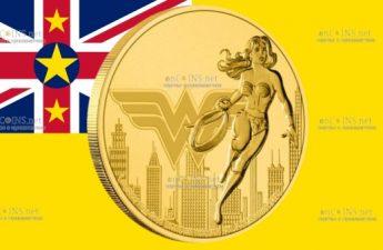 Ниуэ монета 250 долларов Чудо-женщина