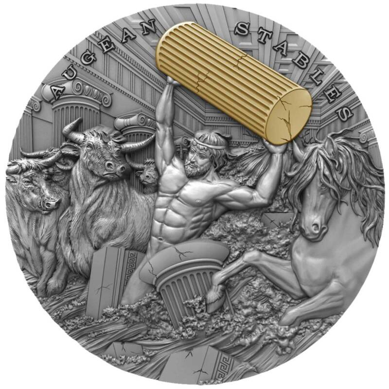 Ниуэ монета 5 долларов Геракл, реверс