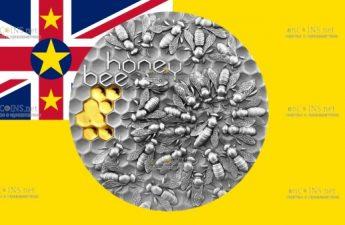 Ниуэ монета 5 долларов Медоносная пчела