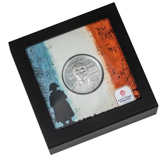 Остров Святой Елены монета 1 фунт Наполеон, подарочная упаковка