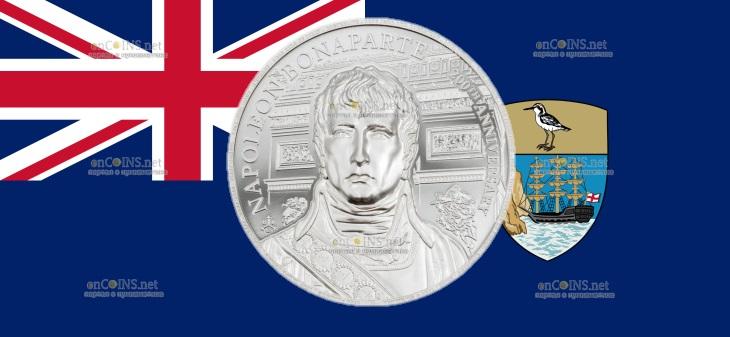 Остров Святой Елены монета 1 фунт Наполеон