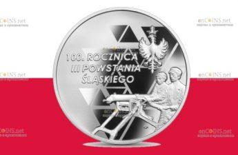 Польша монета 10 злотых 100 лет Третьему Силезскому восстанию