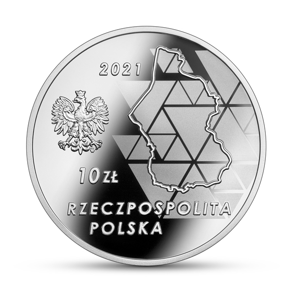 Польша монета 10 злотых 100 лет Третьему Силезскому восстанию, аверс