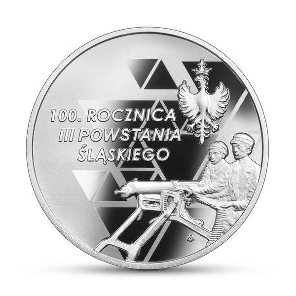 Польша монета 10 злотых 100 лет Третьему Силезскому восстанию, реверс