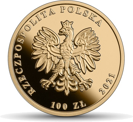 Польша монета 100 злотых 2021 год, аверс