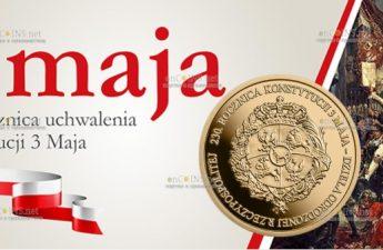 Польша монета 100 злотых 230 лет Конституции 3 мая