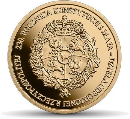 Польша монета 100 злотых 230 лет Конституции 3 мая, реверс